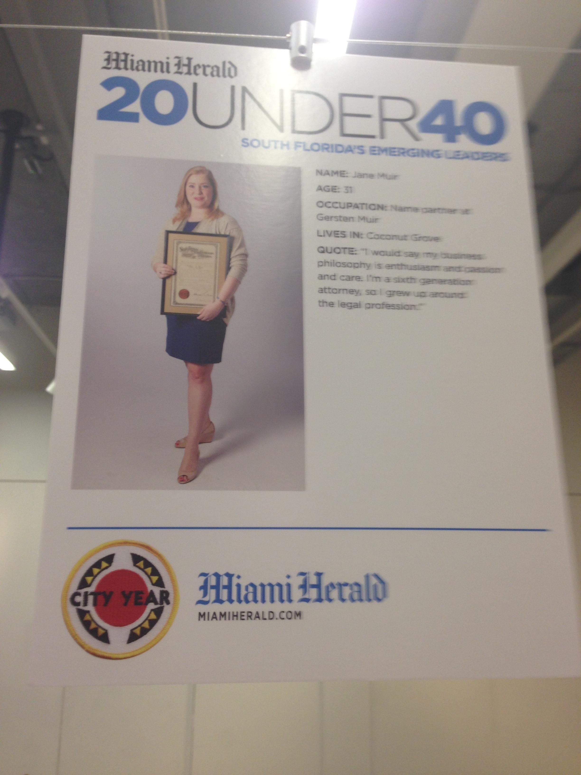 Miami Herald 20 under 40 Awards Ceremony