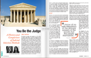 You be the Judge: Judicial Selection Methods