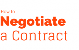 Negotiate a contract