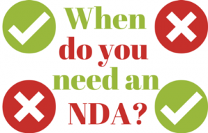 When do you need an NDA